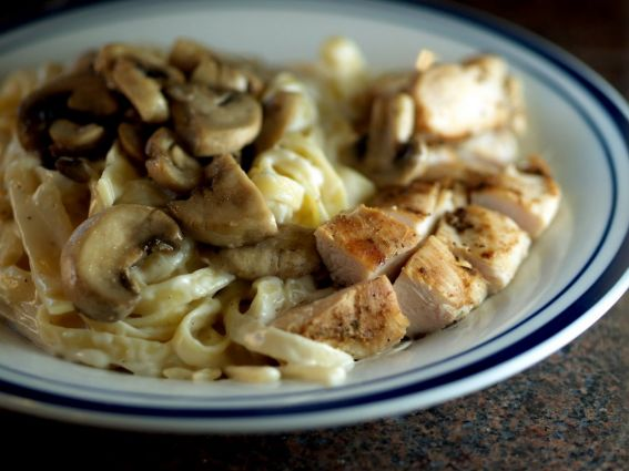 Grilled Chicken & Musroom Fettucini Alfredo