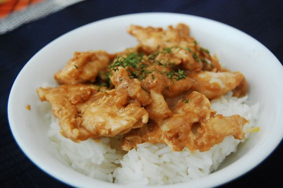 Peanut ginger chicken