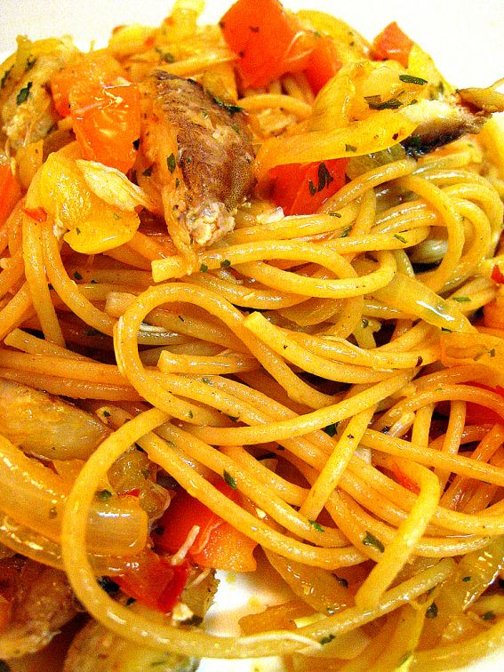 spicy crab spaghettini